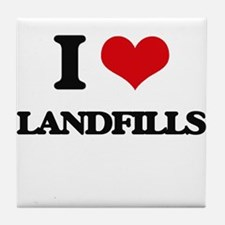 I Love Landfills Tile Coaster