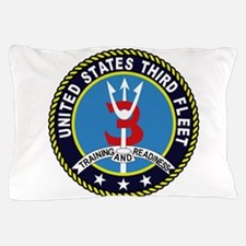 Third Fleet US Navy Military Patch TRA Pillow Case