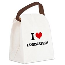 I Love Landscapers Canvas Lunch Bag