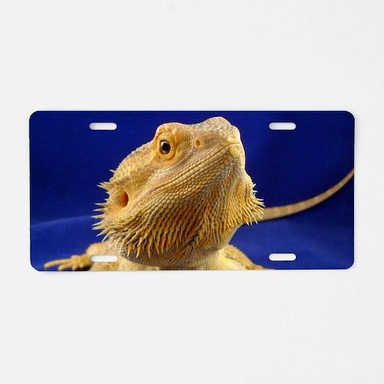 Bearded Dragon Aluminum License Plate