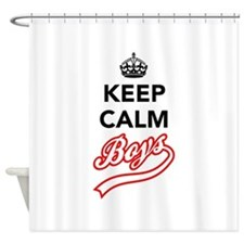Keep Calm Boys Shower Curtain
