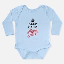 Keep Calm Boys Long Sleeve Infant Bodysuit