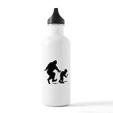 Sasquatch hiker silhou Water Bottle