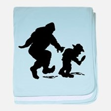 Sasquatch hiker silhouette baby blanket
