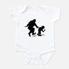 Sasquatch hiker silhouette Infant Bodysuit