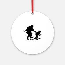 Sasquatch hiker silhouette Ornament (Round)