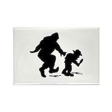 Sasquatch hiker silhouette Rectangle Magnet