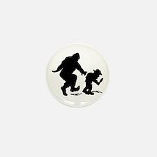 Sasquatch hiker silhouette Mini Button (10 pack)