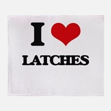 I Love Latches Throw Blanket