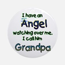 I HAVE AN ANGEL GRANDPA.png Ornament (Round)
