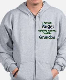 I HAVE AN ANGEL GRANDPA.png Zip Hoodie