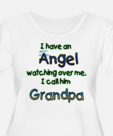 I HAVE AN ANGEL GRANDPA.png Plus Size T-Shirt