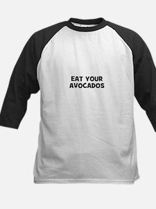 eat your avocados Kids Baseball Jersey