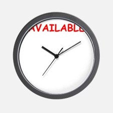 available Wall Clock