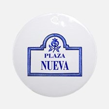 Plaza Nueva, Granada - Spain Ornament (Round)