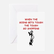 shopping Greeting Cards