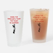 shopping Drinking Glass