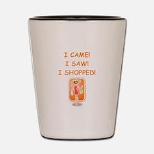 shopping Shot Glass