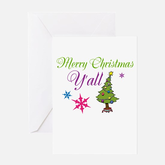 Merry Christmas Yall Greeting Cards