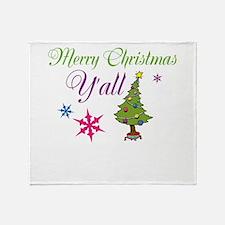 Merry Christmas Yall Throw Blanket