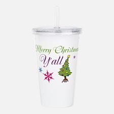 Merry Christmas Yall Acrylic Double-wall Tumbler