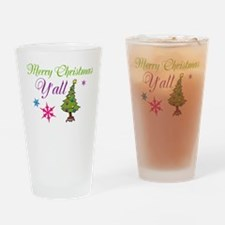 Merry Christmas Yall Drinking Glass
