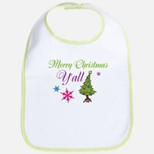 Merry Christmas Yall Bib