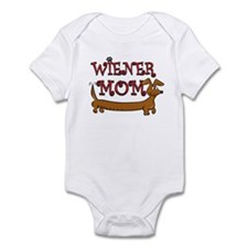 Cute Wiener Mom Cartoon Infant Bodysuit