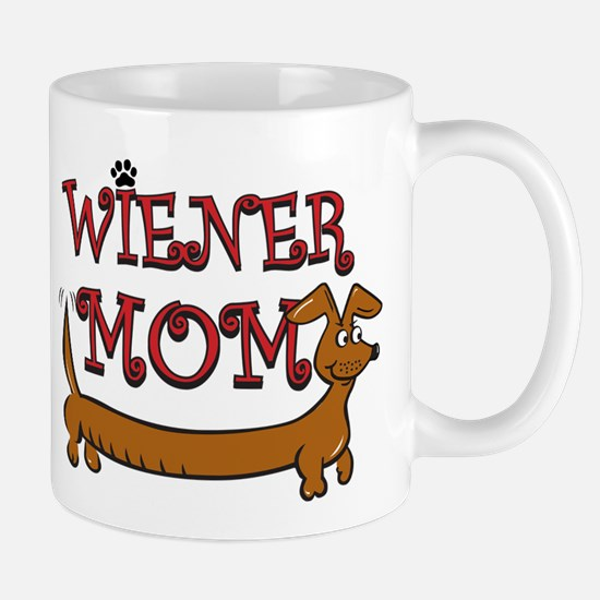 Cute Wiener Mom Cartoon Mug