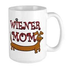 Cute Wiener Mom Cartoon Mug
