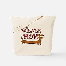 Cute Wiener Mom Cartoon Tote Bag
