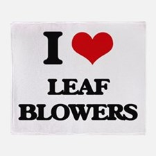 I Love Leaf Blowers Throw Blanket