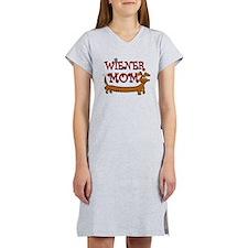 Cute Wiener Mom Cartoon Women's Nightshirt