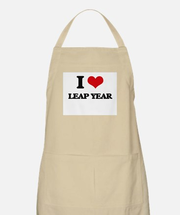 I Love Leap Year Apron