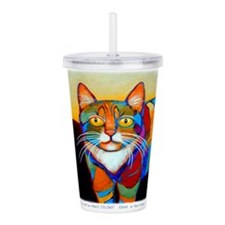 Cat-of-Many-Colors Acrylic Double-wall Tumbler