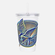 Silver Mockingjay Acrylic Double-wall Tumbler