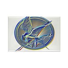 Silver Mockingjay Rectangle Magnet