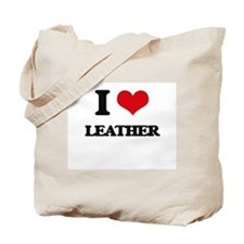I Love Leather Tote Bag