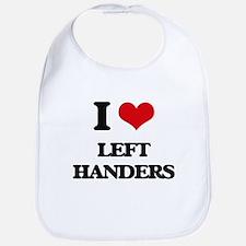 I Love Left Handers Bib