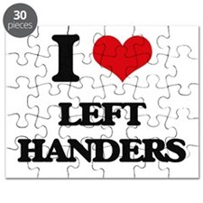 I Love Left Handers Puzzle