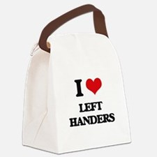 I Love Left Handers Canvas Lunch Bag
