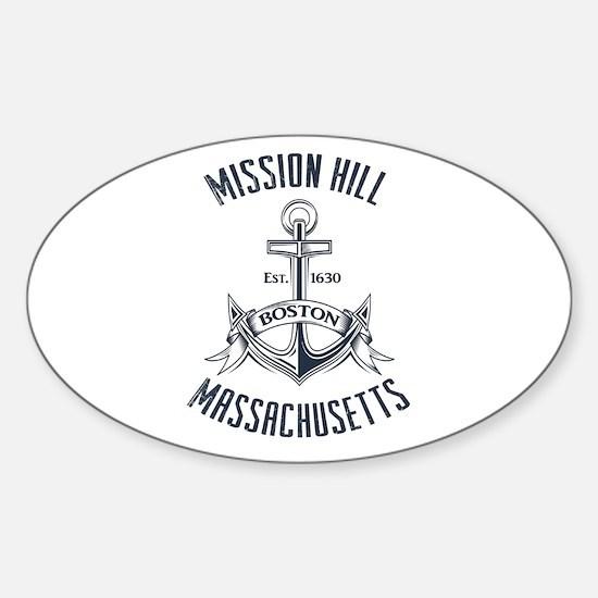 Mission Hill, Boston MA Sticker (Oval)