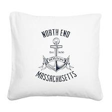 North End, Boston MA Square Canvas Pillow