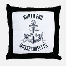 North End, Boston MA Throw Pillow