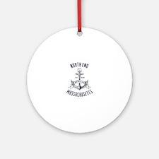 North End, Boston MA Ornament (Round)