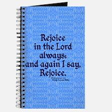 Philippians 4:4 Rejoice blue Journal
