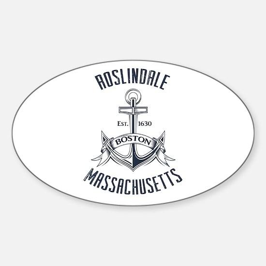 Roslindale, Boston MA Sticker (Oval)
