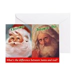 Santa Vs. God Holiday Greeting Cards