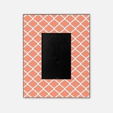 Coral White Quatrefoil Pattern Picture Frame