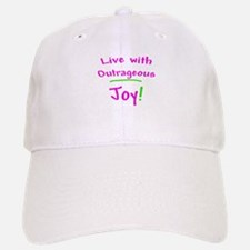 Pink Live With Outrageous Joy Baseball Baseball Cap